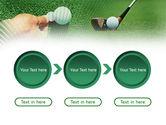 Golf Ball Hitting PowerPoint Template#5