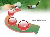 Golf Ball Hitting PowerPoint Template#6