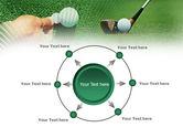 Golf Ball Hitting PowerPoint Template#7