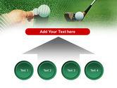Golf Ball Hitting PowerPoint Template#8