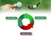 Golf Ball Hitting PowerPoint Template#9