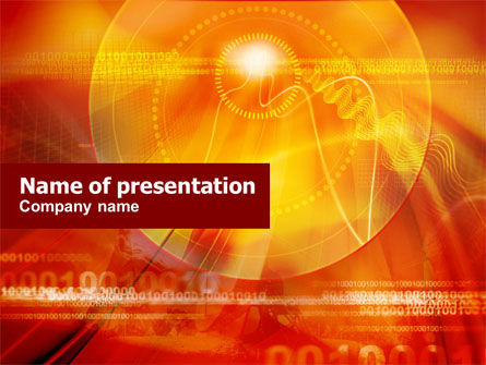 Abstract/Textures: Orange Binary Theme PowerPoint Template #00888