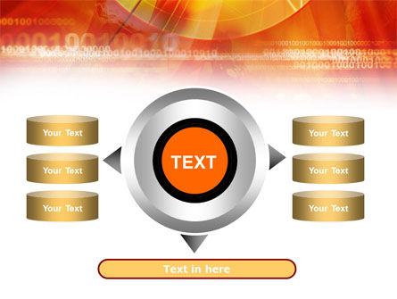 Orange Binary Theme PowerPoint Template Slide 12