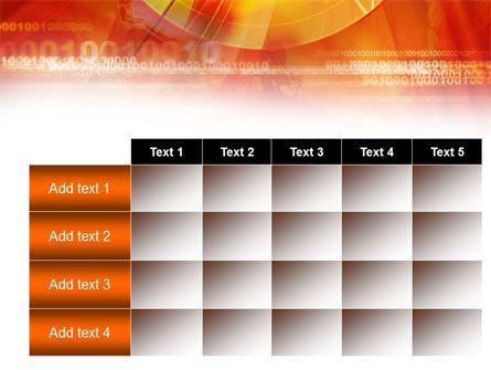Orange Binary Theme PowerPoint Template Slide 15