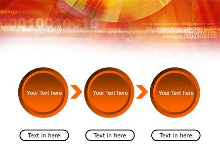 Orange Binary Theme PowerPoint Template Slide 5