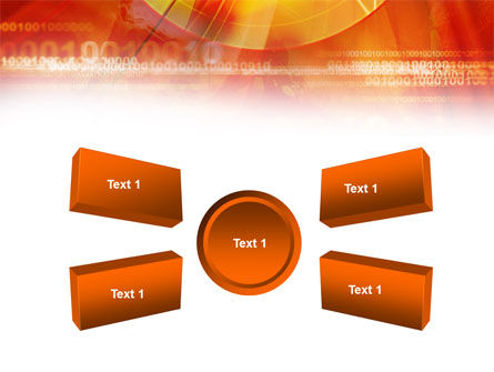 Orange Binary Theme PowerPoint Template Slide 6