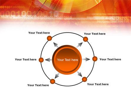 Orange Binary Theme PowerPoint Template Slide 7