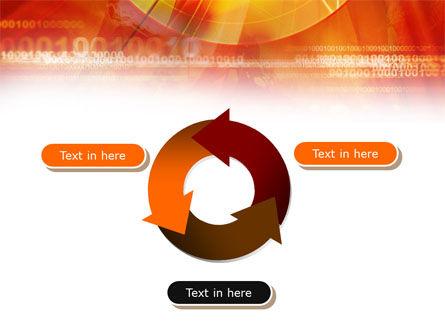 Orange Binary Theme PowerPoint Template Slide 9