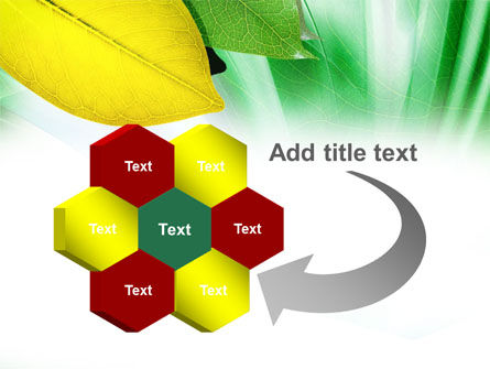 Green-Yellow Leaves PowerPoint Template Slide 11