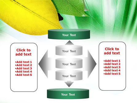 Green-Yellow Leaves PowerPoint Template Slide 13