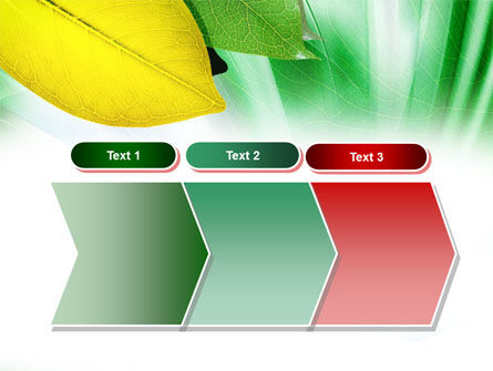 Green-Yellow Leaves PowerPoint Template Slide 16