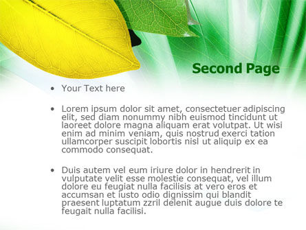 Green-Yellow Leaves PowerPoint Template Slide 2