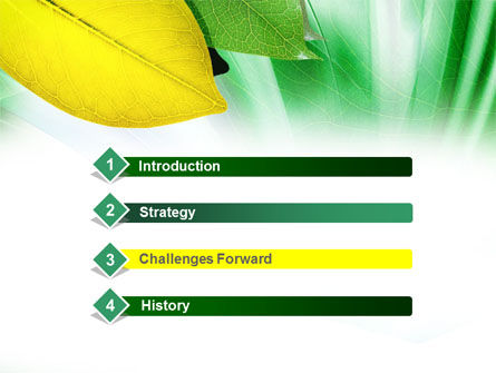 Green-Yellow Leaves PowerPoint Template Slide 3