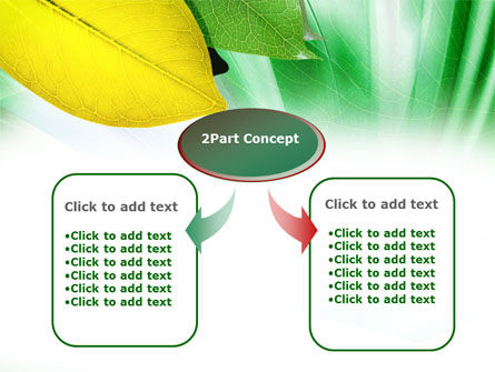 Green-Yellow Leaves PowerPoint Template Slide 4