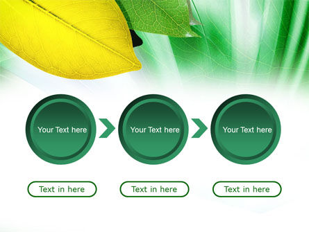 Green-Yellow Leaves PowerPoint Template Slide 5