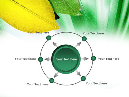 Green-Yellow Leaves PowerPoint Template Slide 7
