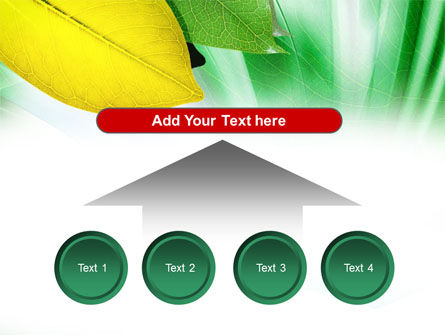 Green-Yellow Leaves PowerPoint Template Slide 8
