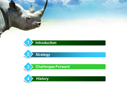 White Rhinoceros PowerPoint Template, Slide 3, 00890, Animals and Pets — PoweredTemplate.com
