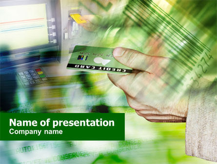 Business: Cash Machine PowerPoint Template #00891