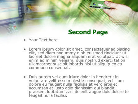 Cash Machine PowerPoint Template, Slide 2, 00891, Business — PoweredTemplate.com