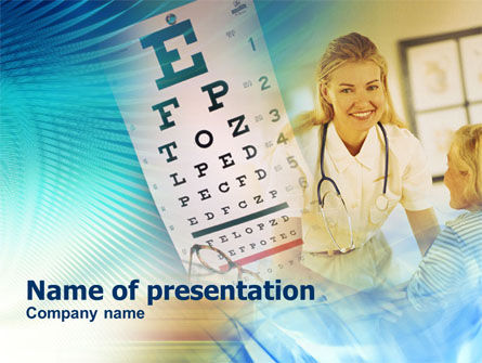 Medical: Oogheelkunde PowerPoint Template #00893