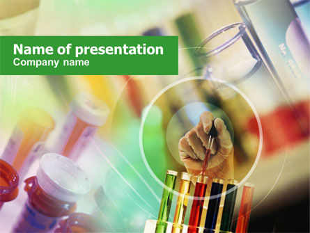 Pharmacy Testing PowerPoint Template, 00894, Technology and Science — PoweredTemplate.com