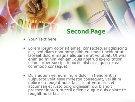 Pharmacy Testing PowerPoint Template, Slide 2, 00894, Technology and Science — PoweredTemplate.com