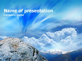 Nature & Environment: Mountain View PowerPoint Template #00895
