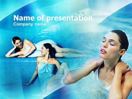 Health and Recreation: Women In A Turkish Bath PowerPoint Template #00897