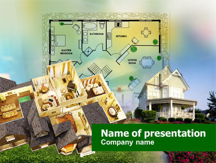Construction: Cottage Planning PowerPoint Template #00898