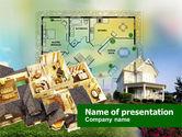Construction: Cottage-planung PowerPoint Vorlage #00898