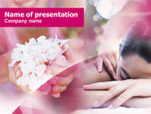 Health and Recreation: Body Massage PowerPoint Template #00899