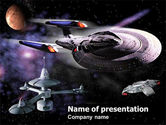 Art & Entertainment: Space Movies PowerPoint Template #00900