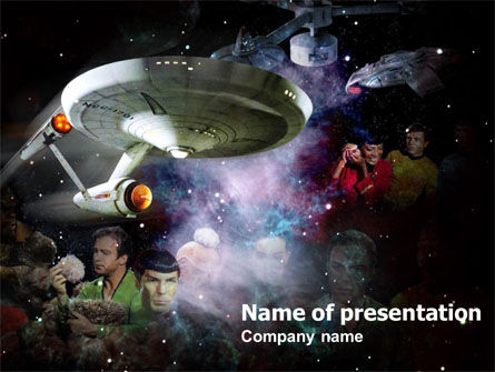 Art & Entertainment: Star Trek PowerPoint Template #00901