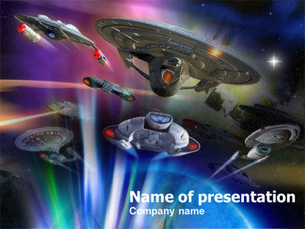 Art & Entertainment: Space Ships PowerPoint Template #00902