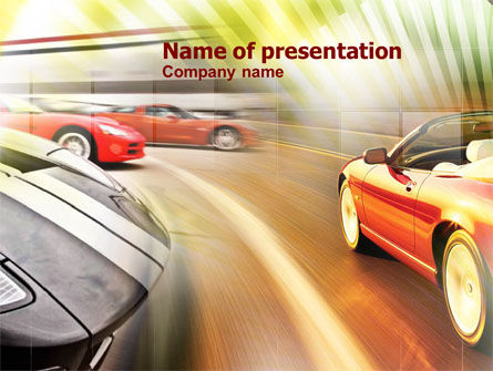 Cars and Transportation: Car Racing PowerPoint Template #00904