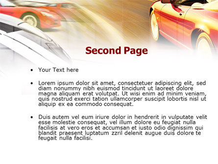 Car Racing PowerPoint Template, Slide 2, 00904, Cars and Transportation — PoweredTemplate.com