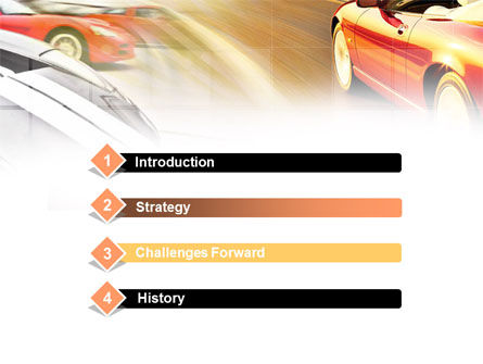 Car Racing PowerPoint Template, Slide 3, 00904, Cars and Transportation — PoweredTemplate.com