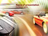 Cars and Transportation: Modello PowerPoint - Macchina da corsa #00904
