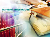 Education & Training: Library Shelves PowerPoint Template #00905