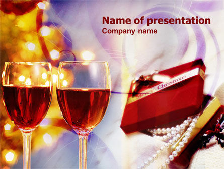 Holiday/Special Occasion: Romantic Christmas Gift PowerPoint Template #00906