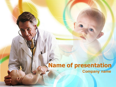 Medical: Plantilla de PowerPoint - doctor de bebe #00907