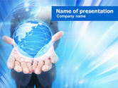 Business Concepts: Modello PowerPoint - Blu globo incandescente #00909