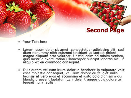 Strawberry Farming PowerPoint Template, Slide 2, 00911, Food & Beverage — PoweredTemplate.com