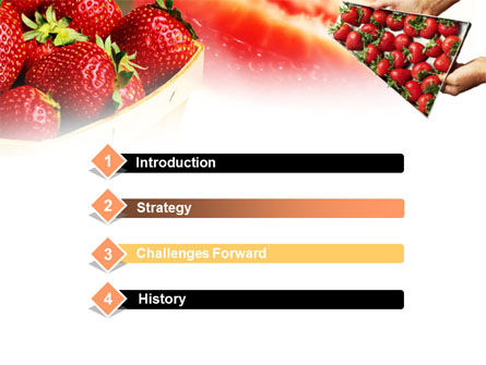 Strawberry Farming PowerPoint Template, Slide 3, 00911, Food & Beverage — PoweredTemplate.com