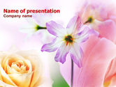Nature & Environment: Pastel Bloemen PowerPoint Template #00912