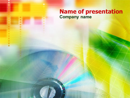 Technology and Science: Digital Disc PowerPoint Template #00913