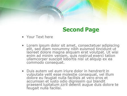 Digital Disc PowerPoint Template, Slide 2, 00913, Technology and Science — PoweredTemplate.com