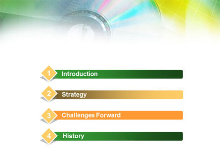 Digital Disc PowerPoint Template, Slide 3, 00913, Technology and Science — PoweredTemplate.com
