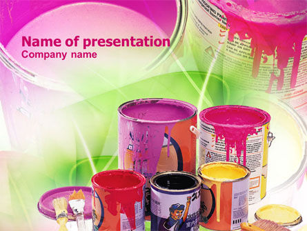 Paint In Cans PowerPoint Template, 00914, Careers/Industry — PoweredTemplate.com